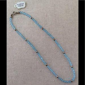 "15"" Genuine Swarovski & silver bead necklace NWOT"